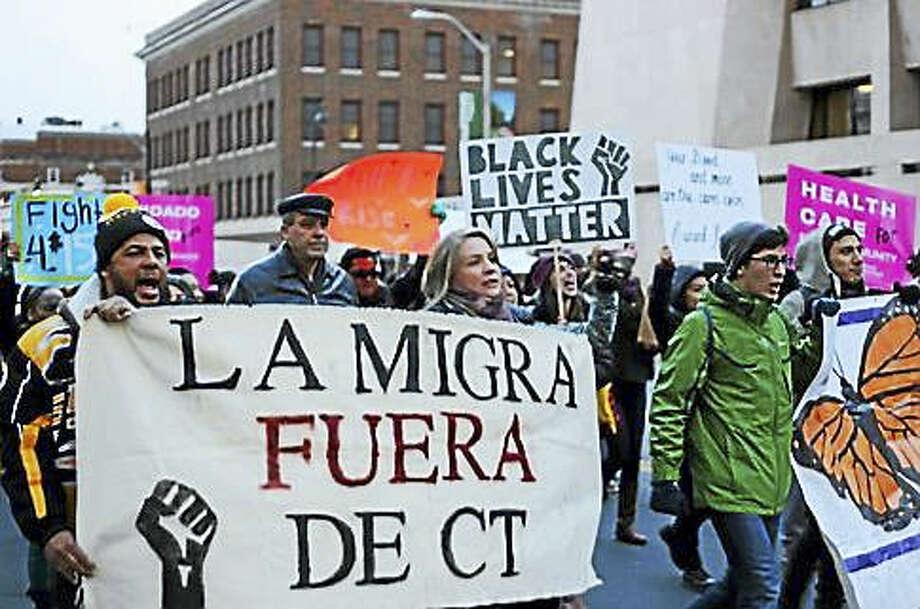 March down Main Street in Hartford Photo: Photo By Christine Stuart CTnewsjunkie