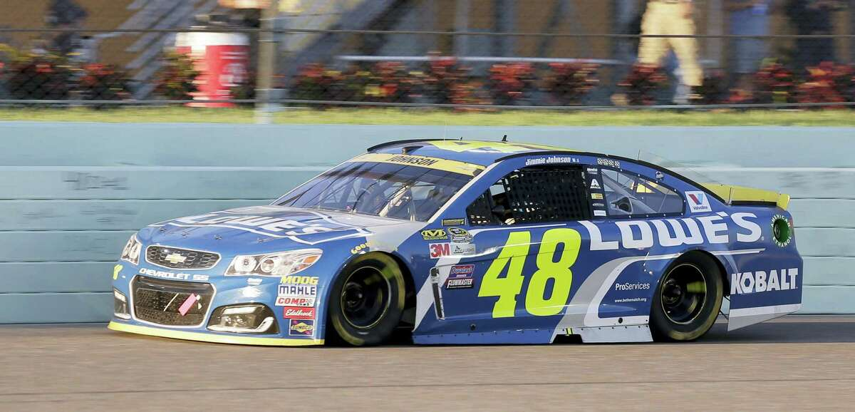 Jimmie Johnson drives during Sunday's race in Homestead, Fla.