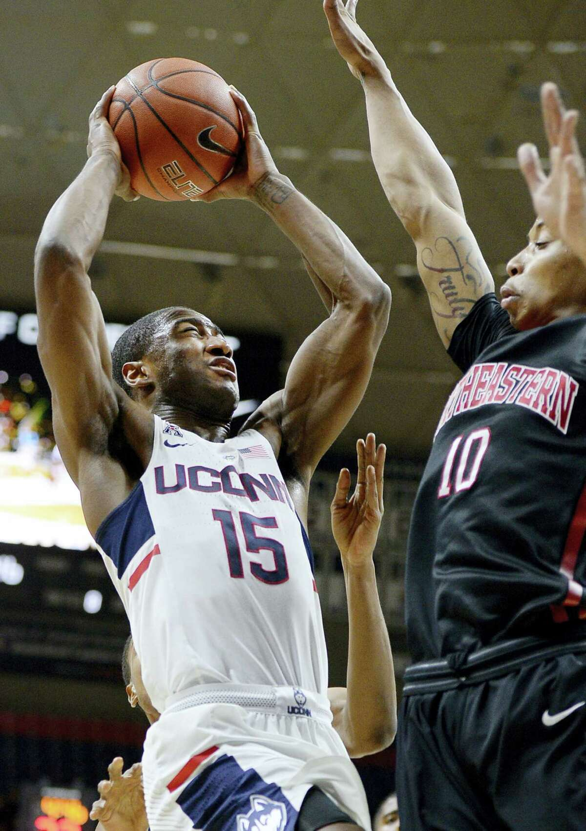 UConn's Rodney Purvis drives to the basket during a recent game.