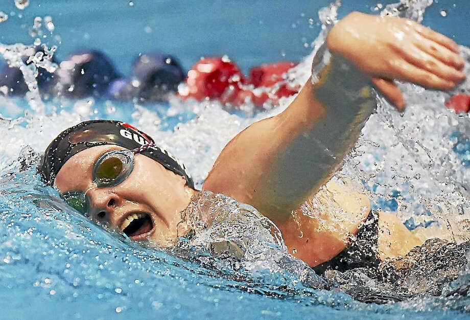 Cheshire senior Cameryn Guetens won the Girls 500-yard freestyle in 4:56.48 at the CIAC Class L Swimming championships, Tuesday at the Hutchinson Natatorium at Southern Connecticut State University in New Haven. Photo: Catherine Avalone — New Haven Register