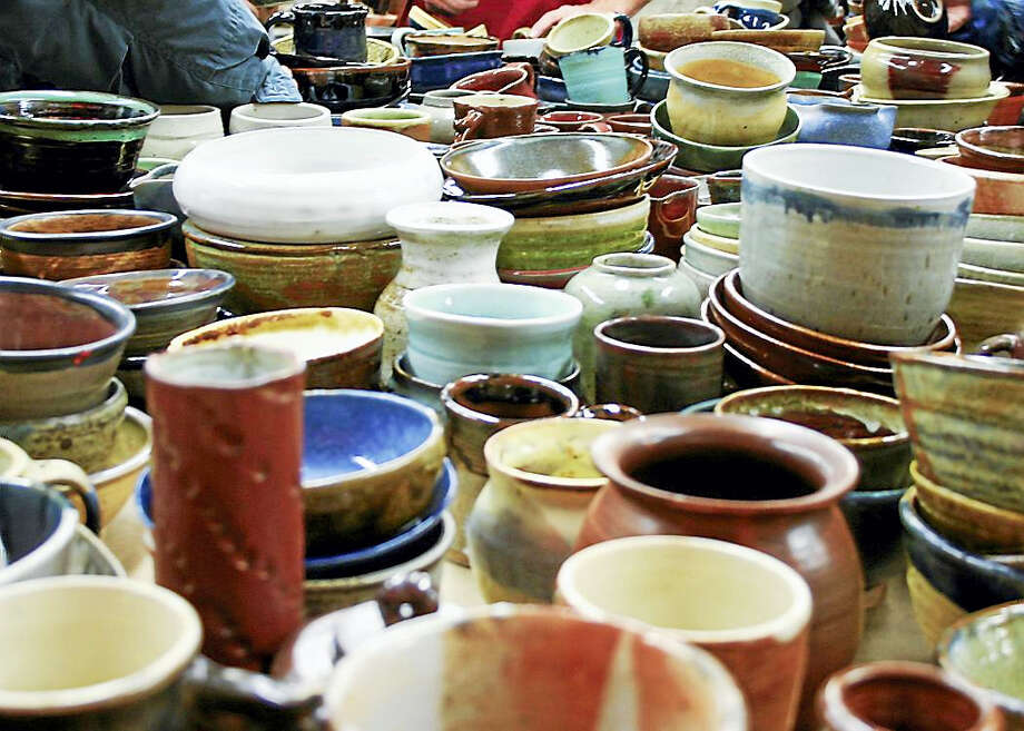 Various cups and bowls are ready for soup and a new owner. Photo: Photo Courtesy Of CAW