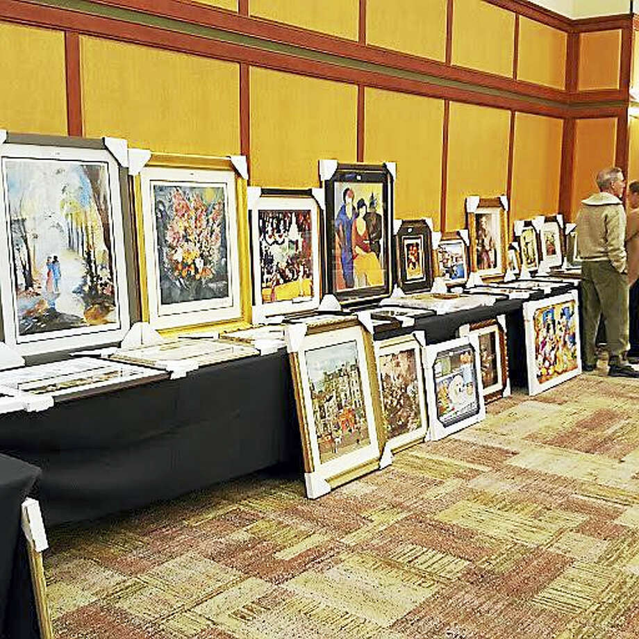 Art on display at last year's auction to benefit the GNHCC. Photo: Contributed