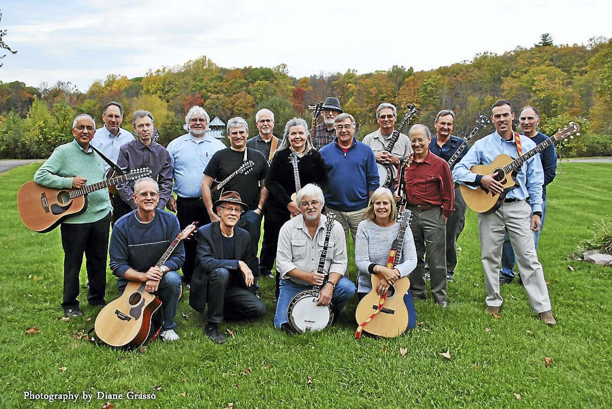 A recent photo of the casual group Guilford Ramblers.