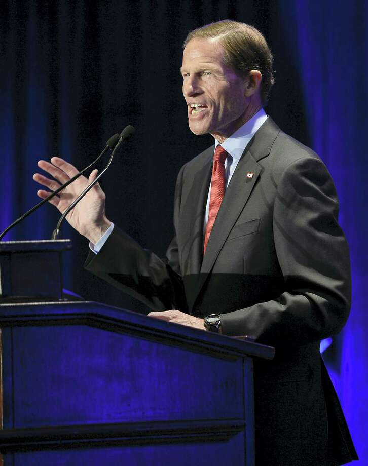 U.S. Sen. Richard Blumenthal, D-Conn., addresses supporters at an election night rally in November celebrating his victory in Hartford. Photo: Jessica Hill — AP File Photo / AP2016
