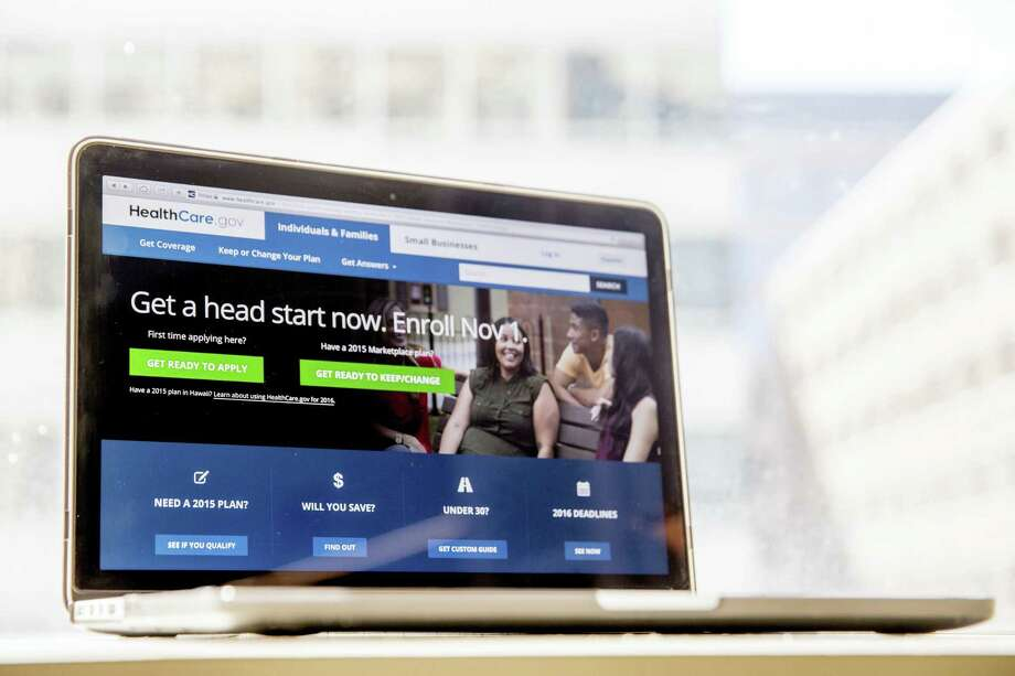 In this Oct. 6, 2015 photo, the HealthCare.gov website, where people can buy health insurance, is displayed on a laptop screen in Washington. The Obama administration says a little over 1 million people renewed coverage or signed up for the first time through HealthCare.gov around the start of open enrollment. Photo: AP Photo/Andrew Harnik, File   / Copyright 2016 The Associated Press. All rights reserved. This material may not be published, broadcast, rewritten or redistribu