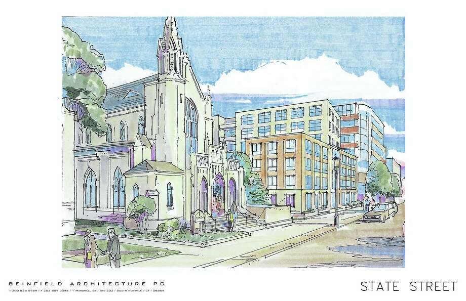 A rendering of proposal for the Spinnaker project at Audubon and Orange streets in New Haven. Photo: Contributed PHOTO