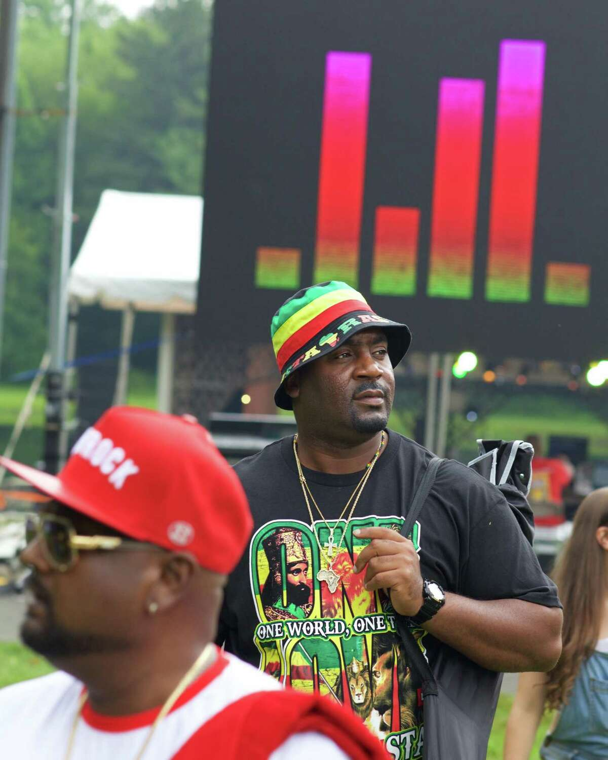 Andre Davis from Danbury scopes out a good spot on the lawn at the Sixth Annual Westside Reggae Festival that took place on Sunday, July 23rd, 2017, at Ives Concert Park in Danbury, CT.