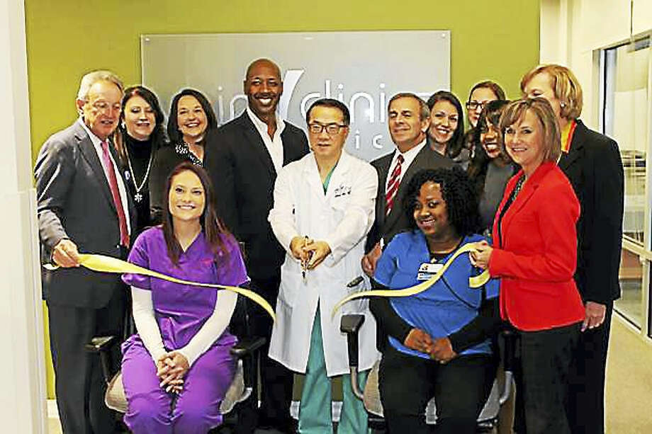 "Vein Clinics of America celebrates North Haven opening: Vein Clinics of America recently celebrated the opening of its first clinic in North Haven at 358 Universal Drive North. The state-of-the-art clinic is led by Jiyong Ahn, M.D., according to a release. According to the release, ""the physicians of VCA specialize in treating the entire spectrum of vein abnormalities, including varicose veins, spider veins, venous leg ulcers, facial veins, hand veins, Klippel-Trenaunay Syndrome and Restless Leg-Syndrome resulting from venous reflex."" For information, visit www.veinclinics.com. Photo: CONTRIBUTED PHOTO"