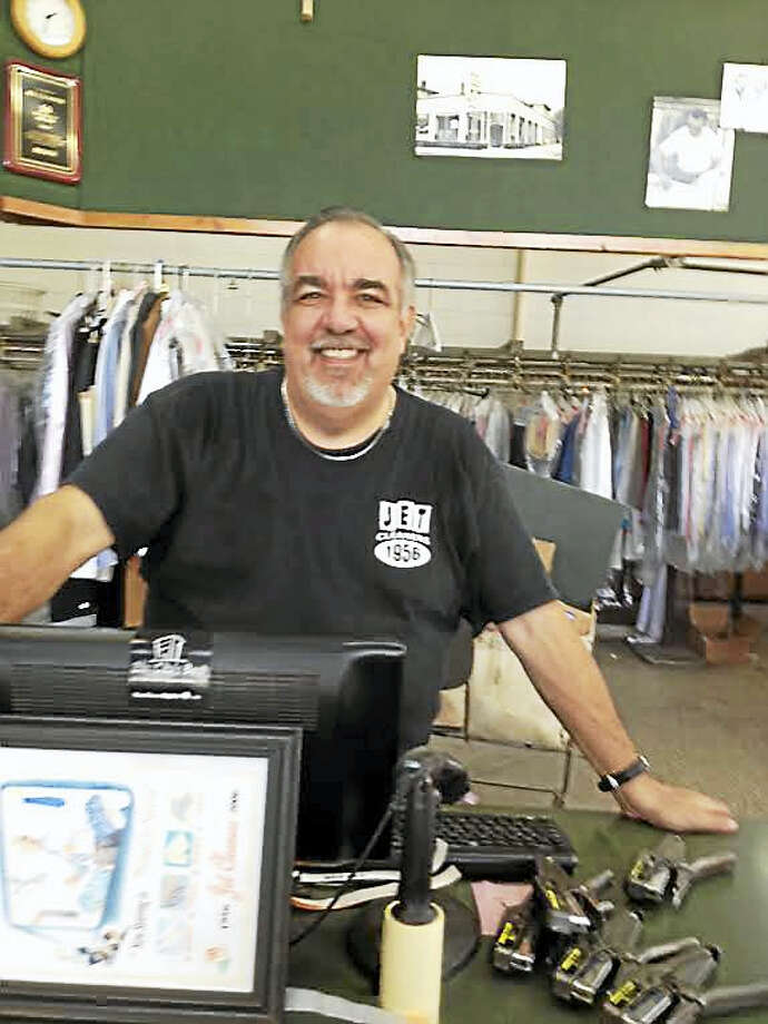 Jet Cleaners owner Mike Amore at 687 State St., just days before the business moved to a smaller space at 762 State St. Photo: Mary O'Leary — New Haven Register