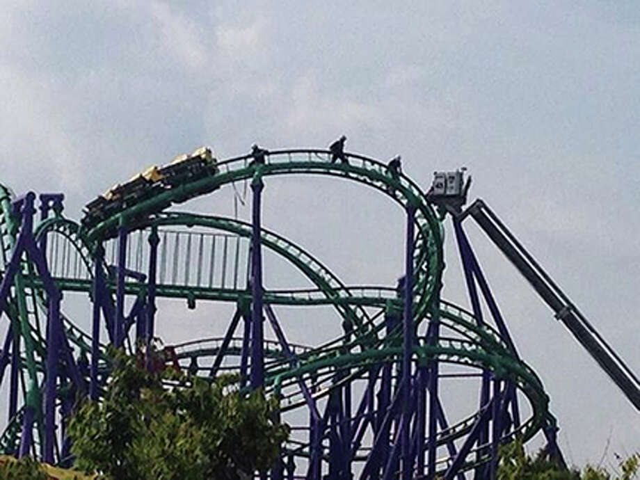 The August 2014 rescue of 24 roller coaster riders who were stuck on the Jokers Jinx at Six Flags in Maryland for five hours. Photo: Photo Courtesy Of Prince George's County Fire Chief Marc Bashoor   / HANDOUT