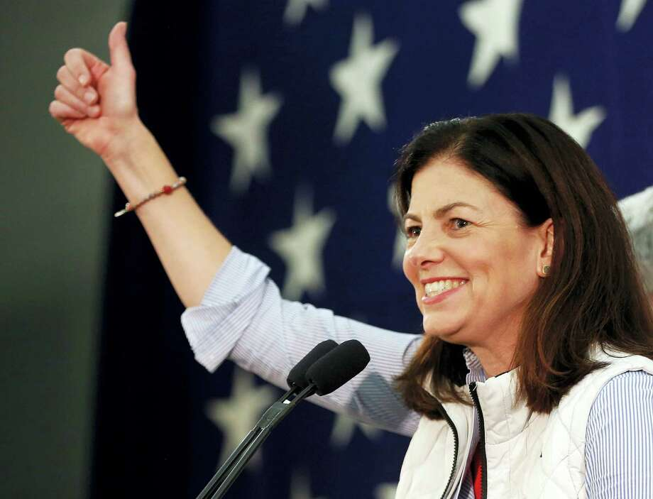 Republican Sen. Kelly Ayotte thanks supporters Wednesday morning, Nov. 9, 2016, after telling them her race with Democratic challenger for Senate, Gov. Maggie Hassan was too close to call in Concord, N.H. Photo: AP Photo/Jim Cole    / Copyright 2016 The Associated Press. All rights reserved.
