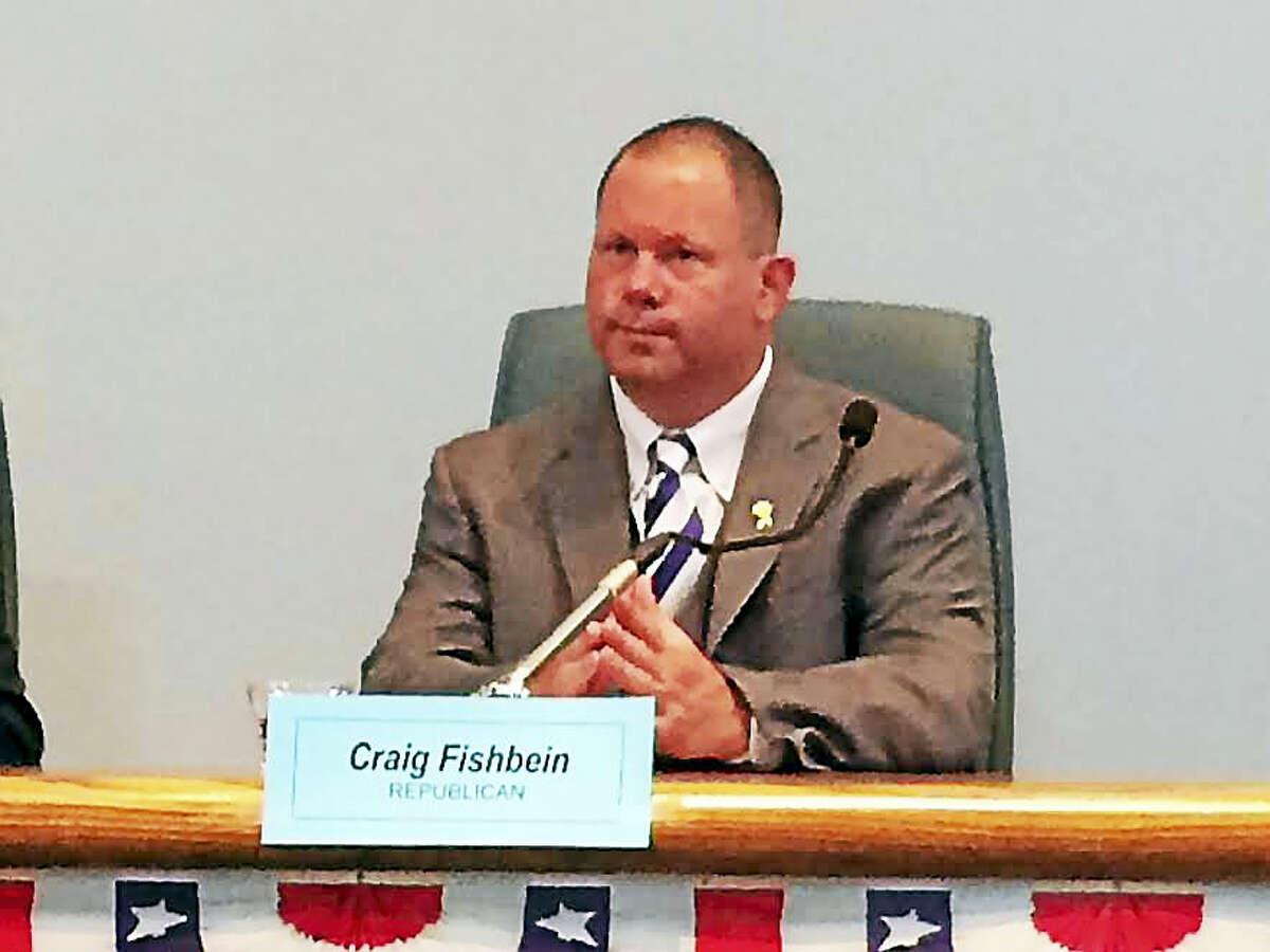 Wallingford Republican Town Councilman Craig Fishbein shown at a voter's forum last November.