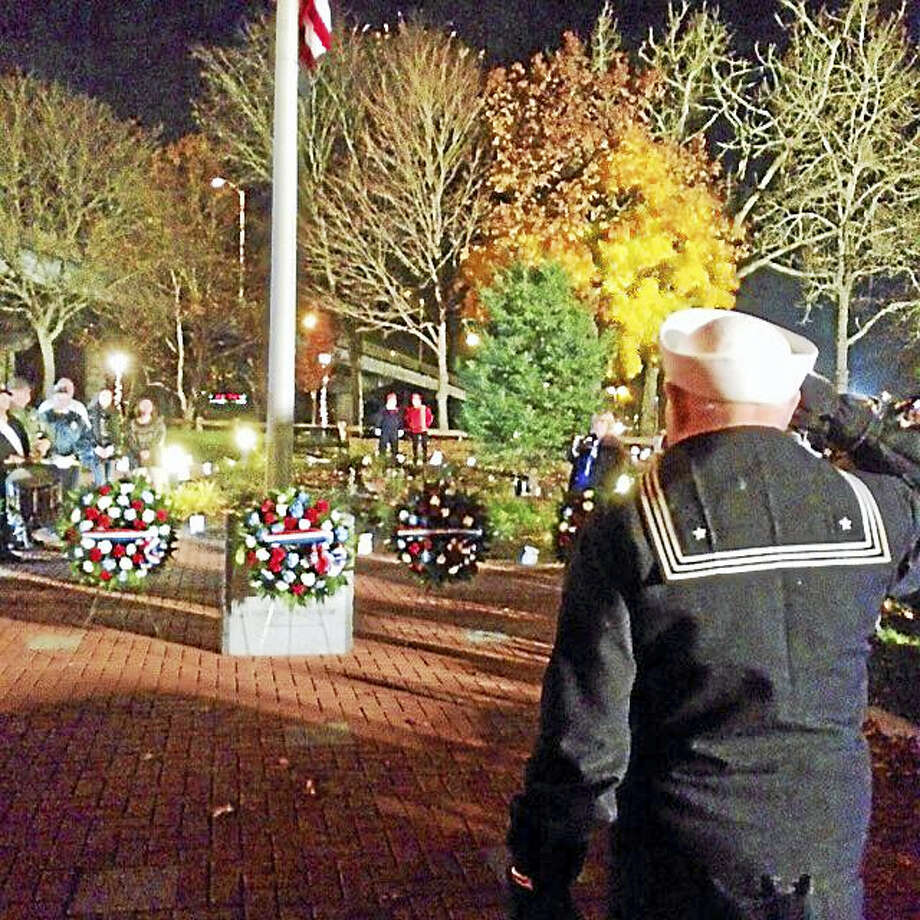 A moment from the 2015 vigil. Photo: Jean Falbo-Sosnovich - New Haven Register