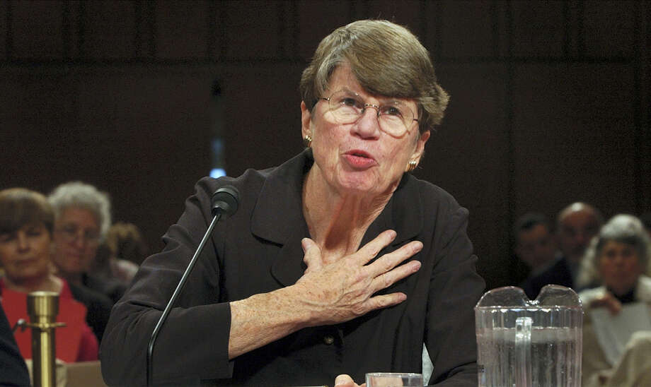 In this April 13, 2004 photo, former U.S. Attorney General Janet Reno testifies before the commission investigating the Sept. 11 attacks on Capitol Hill in Washington DC. Reno, the first woman to serve as U.S. attorney general and the epicenter of several political storms during the Clinton administration, died early Monday, Nov. 7, 2016. She was 78. Photo: AP Photo/Dennis Cook, File   / AP