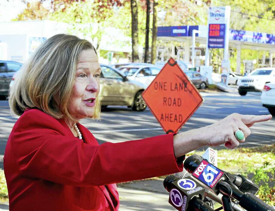 State Rep. Patricia Dillon speaks during a press conference with New Haven city officials Monday on the corner of Whalley and West Rock avenues in New Haven. Photo: Peter Hvizdak — New Haven Register   / ©2016 Peter Hvizdak