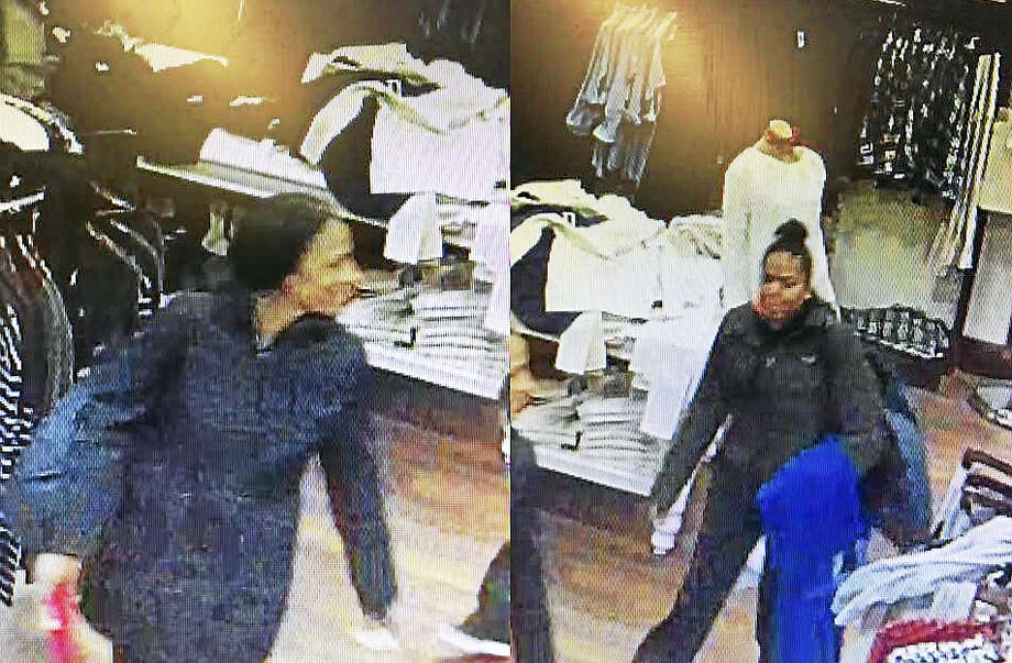 Clinton police are asking for the public's help identifying these two women. Photo: Clinton Police Department