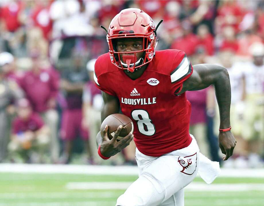 Louisville quarterback Lamar Jackon. Photo: The Associated Press    / FR43398 AP