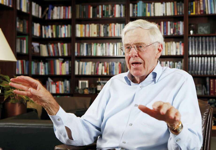 In this photo May 22, 2012 photo, Charles Koch speaks in his office at Koch Industries in Wichita, Kansas. Billionaire industrialist and conservative benefactor Koch is hosting hundreds of the nation's most powerful political donors this weekend in Colorado. Photo: Bo Rader/The Wichita Eagle Via AP, File   / A2014