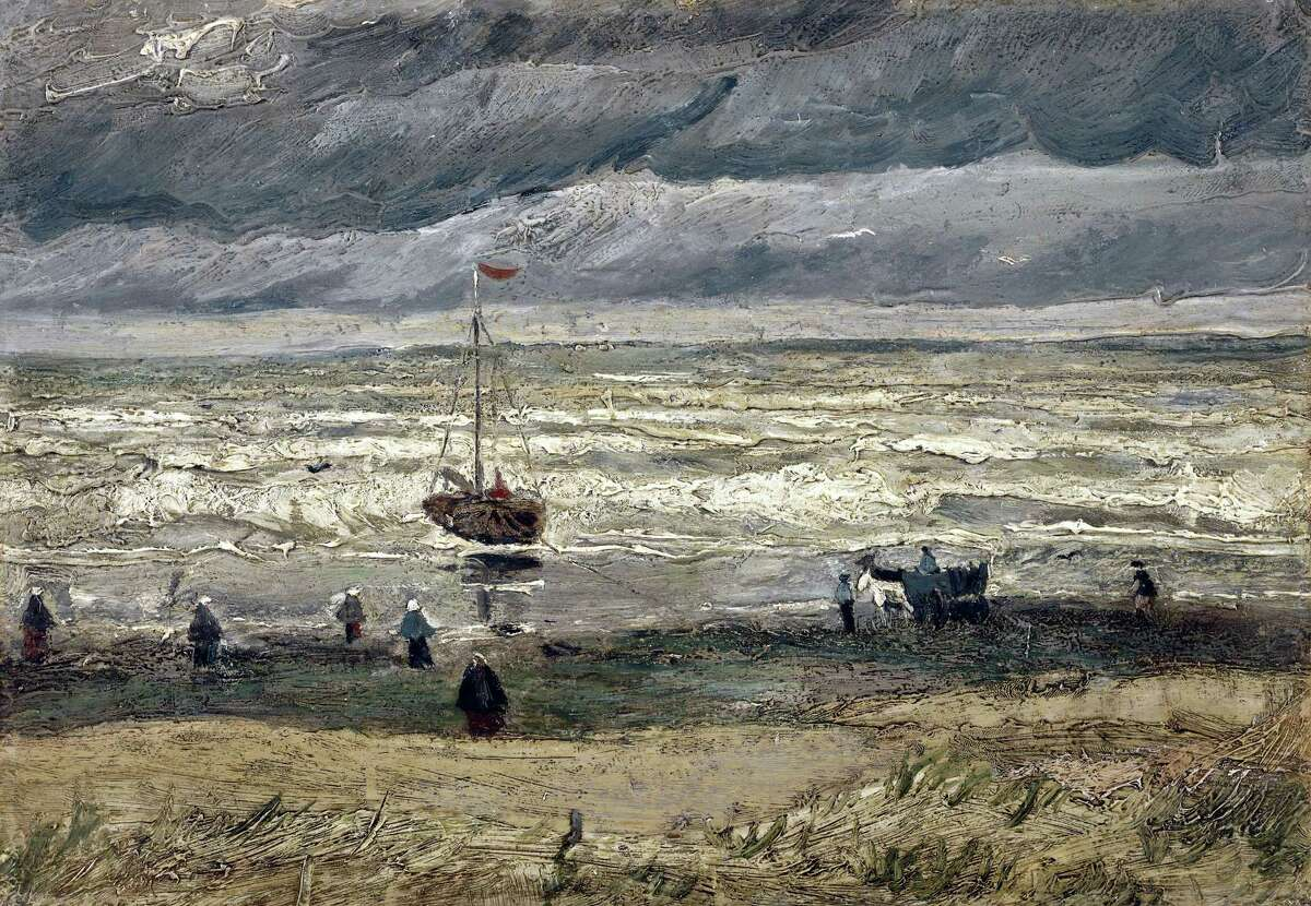 In this image provided by the Van Gogh Museum in Amsterdam on Friday, Sept. 30, 2016, the painting of the 'View of the Sea at Scheveningen' by the artist Vincent Van Gogh. Italian police have recovered two Van Gogh paintings stolen from the Amsterdam museum in 2002.