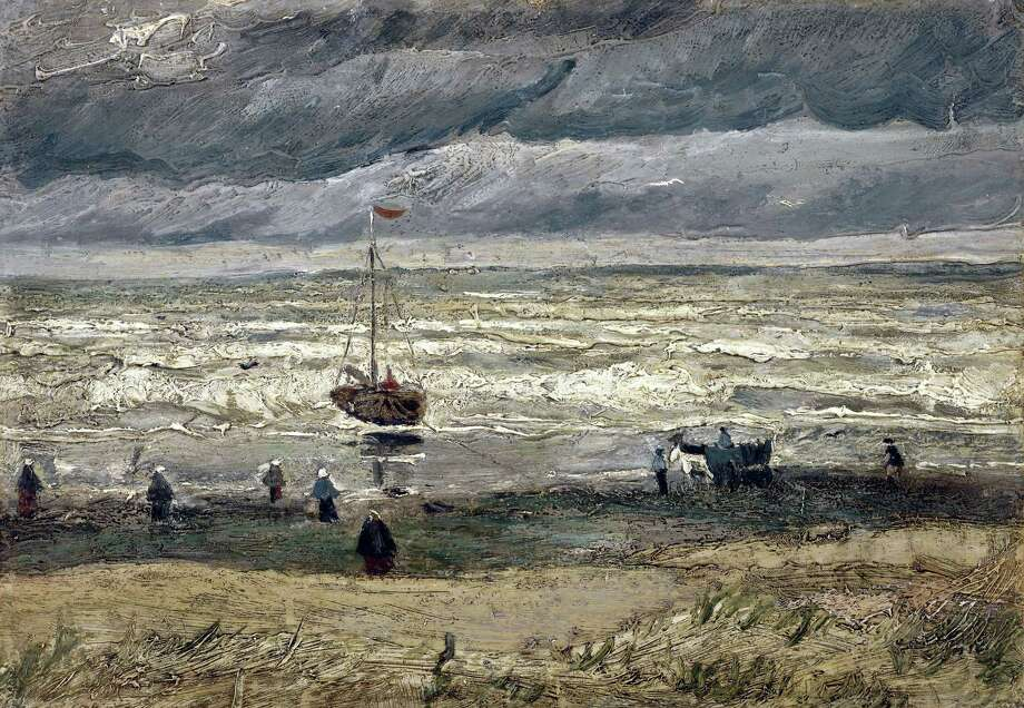 In this image provided by the Van Gogh Museum in Amsterdam on Friday, Sept. 30, 2016, the painting of the 'View of the Sea at Scheveningen' by the artist Vincent Van Gogh. Italian police have recovered two Van Gogh paintings stolen from the Amsterdam museum in 2002. Photo: Van Gogh Museum Via AP    / Van Gogh Museum