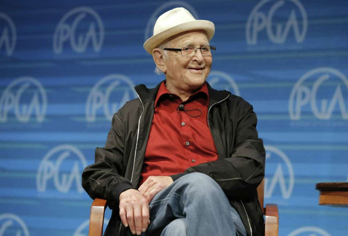 """In this June 8, 2014 photo released by the Producers Guild of America, Norman Lear speaks on stage at the Produced By Conference in Burbank, Calif. Lear released a new memoir, """"Even This I Get To Experience."""""""
