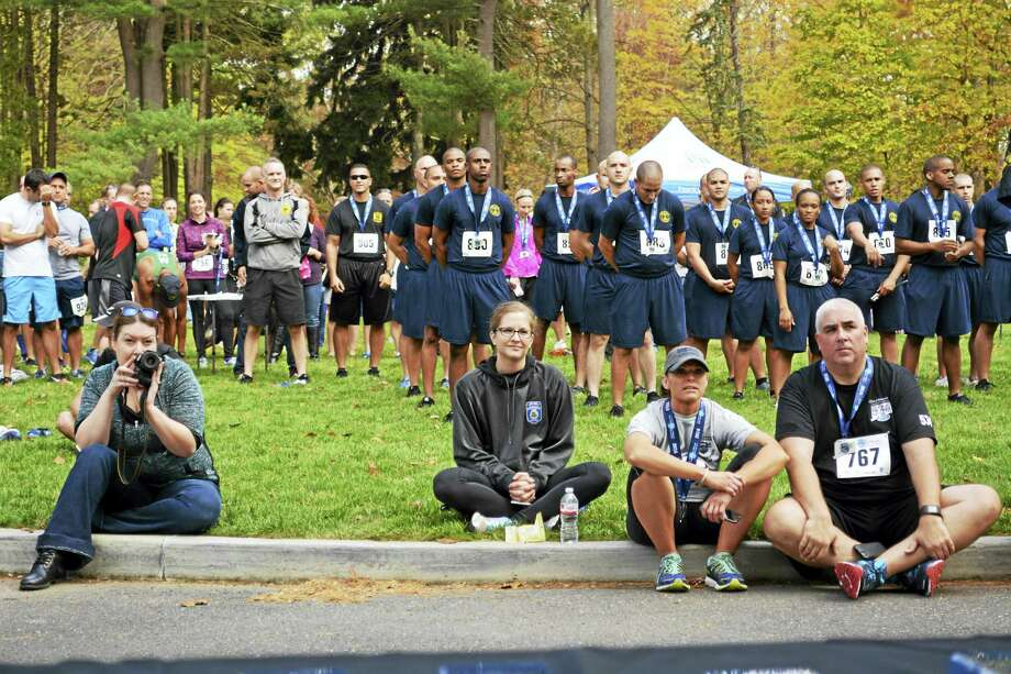 The seventh annual Law Enforcement Officers Memorial Run 5K was held at the Wadsworth Mansion in Middletown Sunday. New Haven Police took first place in the team division. Photo: Cassandra Day — The Middletown Press