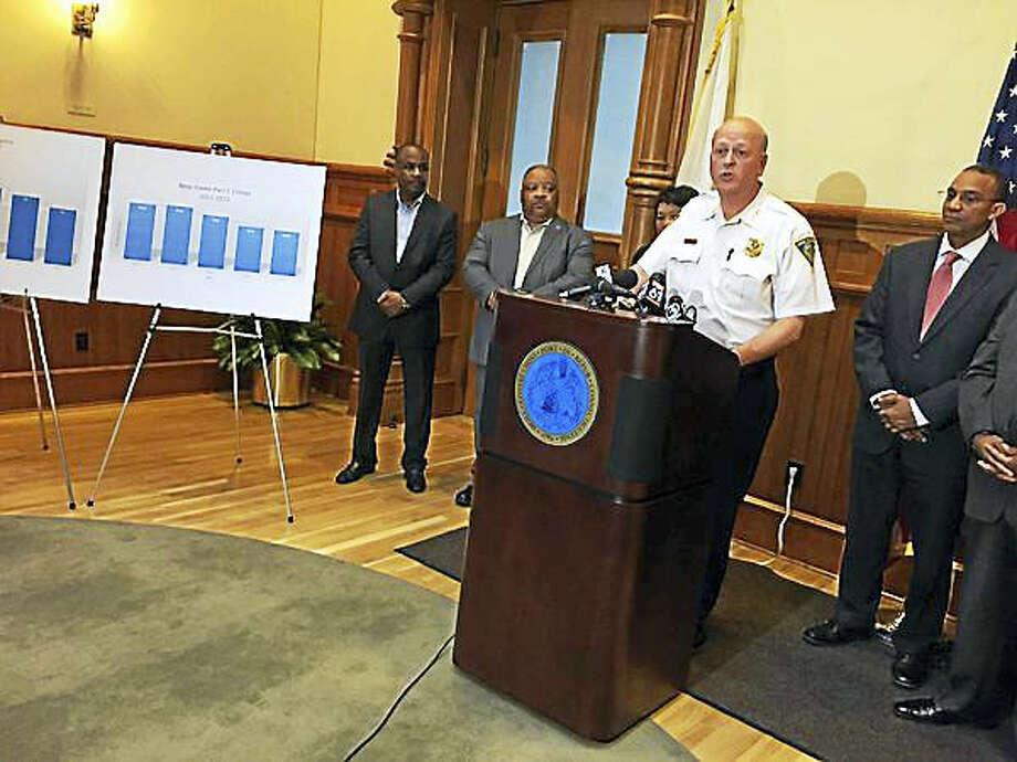 Then New Haven Police Chief Dean Esserman. Photo: Esteban Hernandez - New Haven Register