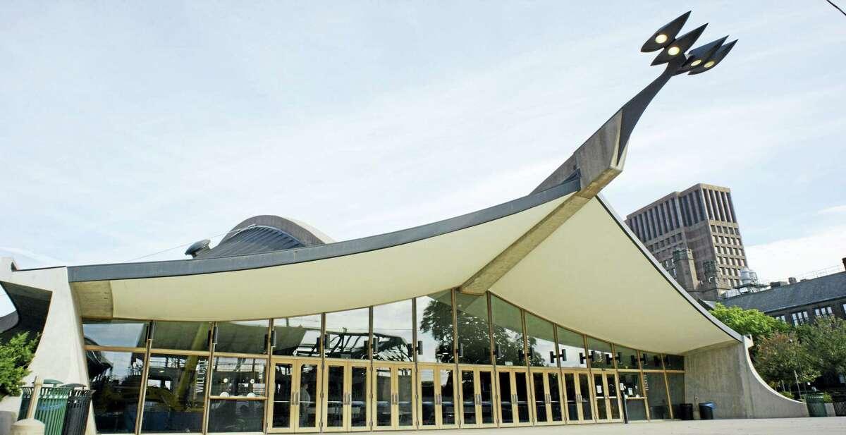 Eric Saarinen/Peter Rosen Productions The Saarinen-designed Ingalls Rink, aka The Whale, in New Haven.