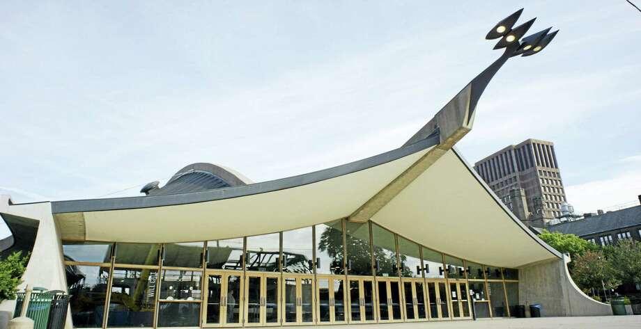 Eric Saarinen/Peter Rosen Productions  The Saarinen-designed Ingalls Rink, aka The Whale, in New Haven. Photo: Digital First Media
