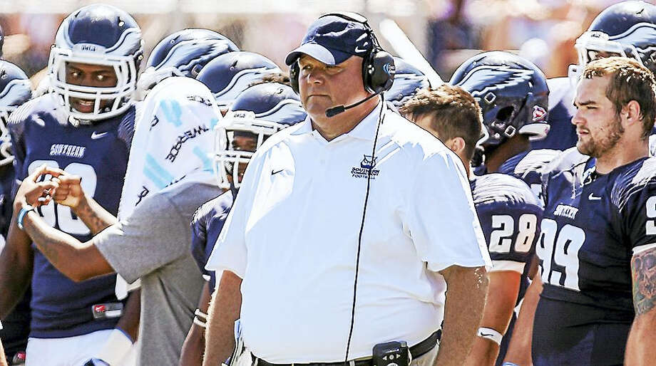 Southern Connecticut State football coach Tom Godek wants to build on the Owls' late-season success from 2015. Photo: Photo Courtesy Of SCSU