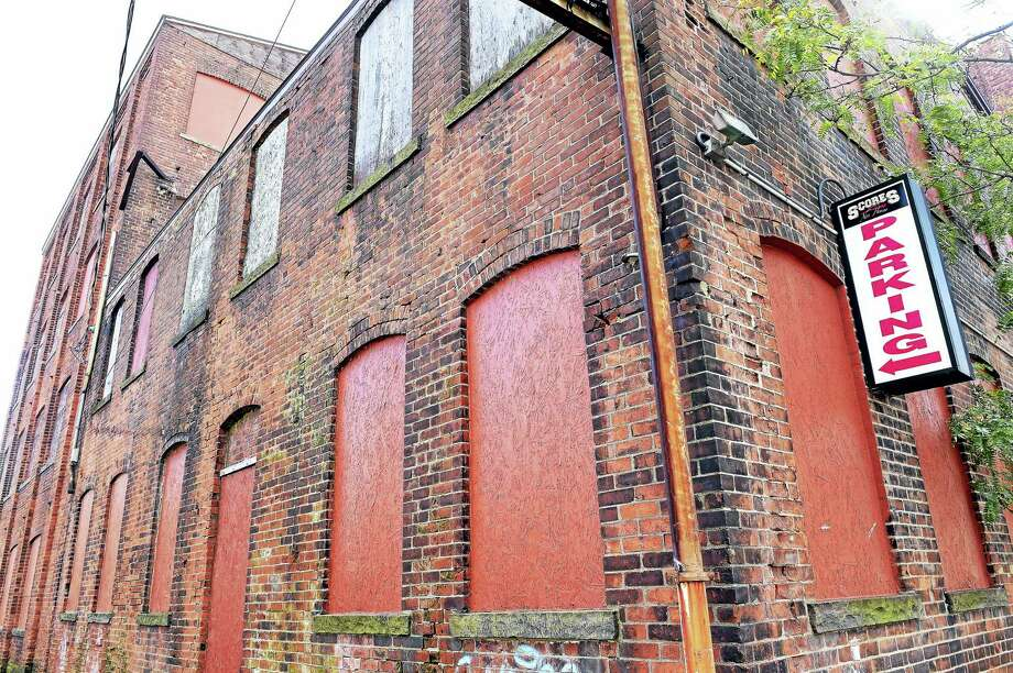 The site of an old clock factory on Hamilton Street in New Haven. Photo: Arnold Gold — New Haven Register