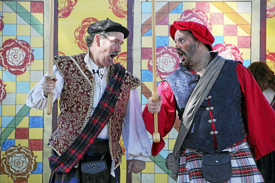 Colorful costumes and singing are part of the festivities at the Connecticut Renaissance Faire. Photo: Photo Courtesy Of Eric Tetreault