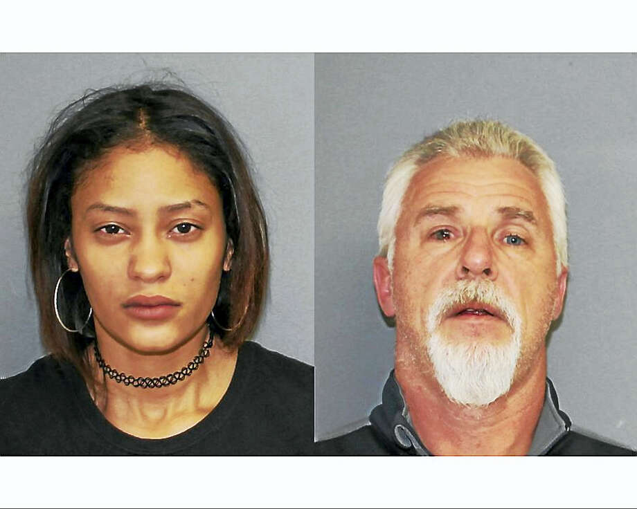 Lesley Michelle Reyes, 20, of Bridgeport (L) and Albert Beckwith, 51, of Beacon Falls (R). Photo: Photo Courtesy Of Shelton Police Department