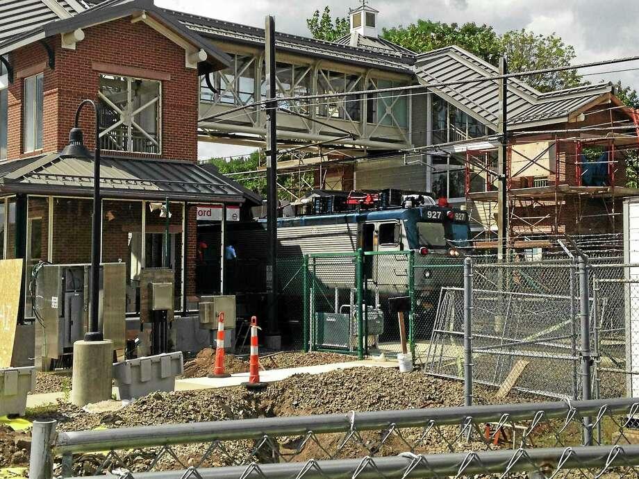 Upgrades are underway at the Branford Train Station. A new platform is scheduled to open Saturday, Nov. 5, 2016. Photo: Juliemar Ortiz — New Haven Register/file