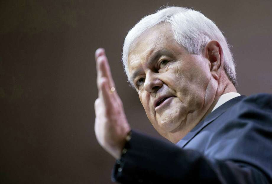 Former House Speaker Newt Gingrich addresses the Conservative Political Action Conference annual meeting in National Harbor, Md. in 2014. Photo: Cliff Owen — AP File Photo   / FR170079 AP