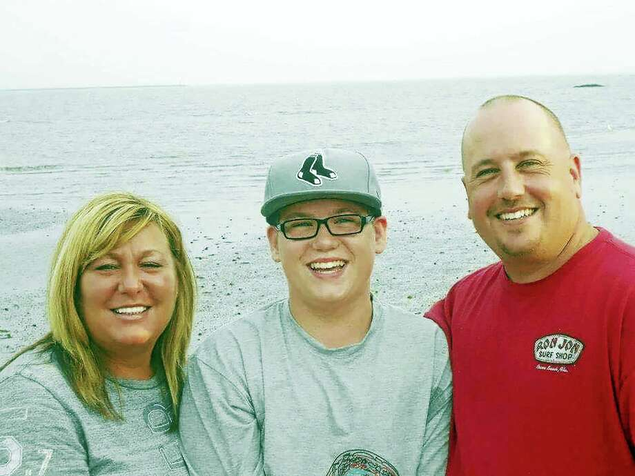 From left, Nicole, Austin and Brian Mather. Photo: CONTRIBUTED PHOTO — The Mather Family