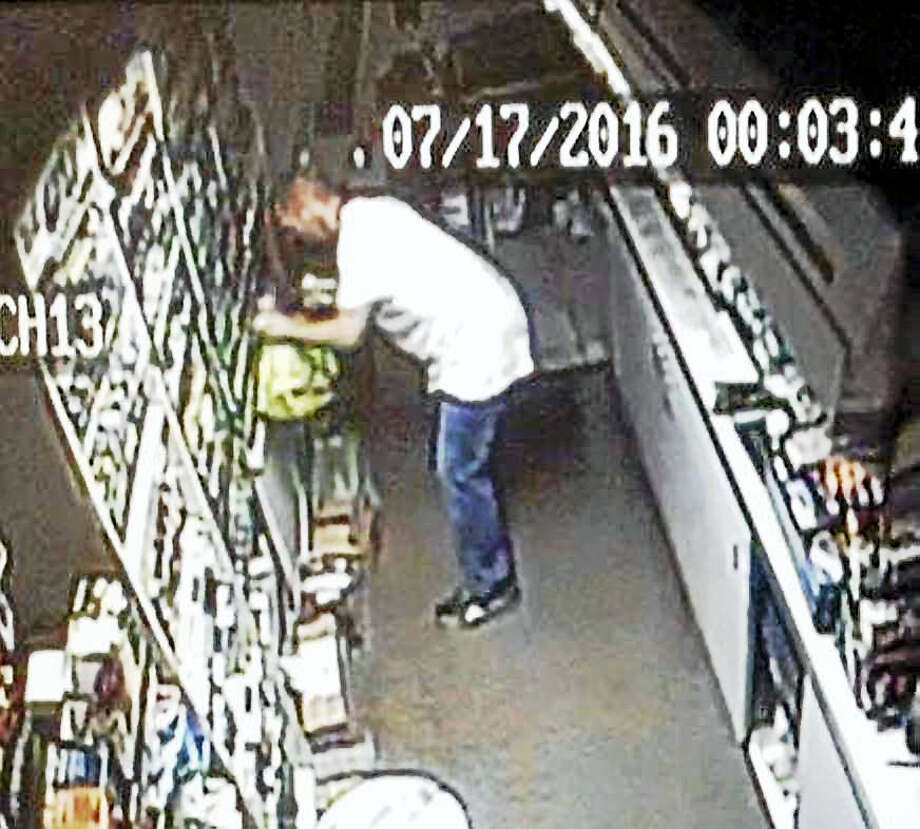 North Haven police are looking for this man, who allegedly broke into the Valero gas station, 414 State St., on July 17. Photo: Courtesy Of North Haven Police Department