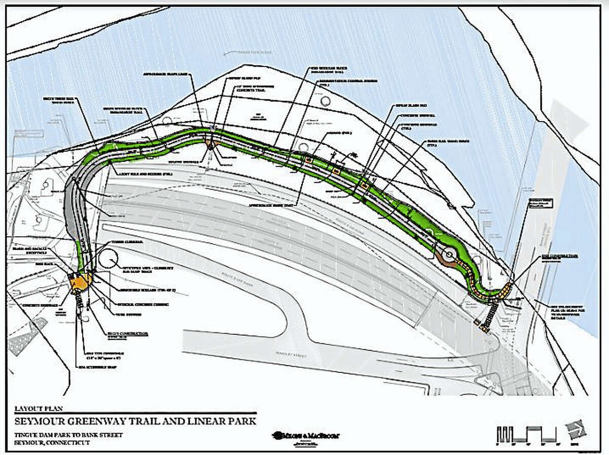 A rendering of the greenway trail