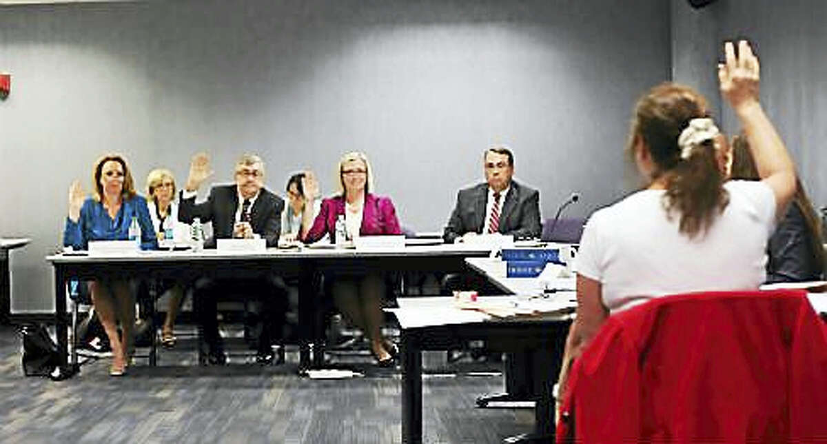 ConnectiCare executives getting sworn in during last year's hearing