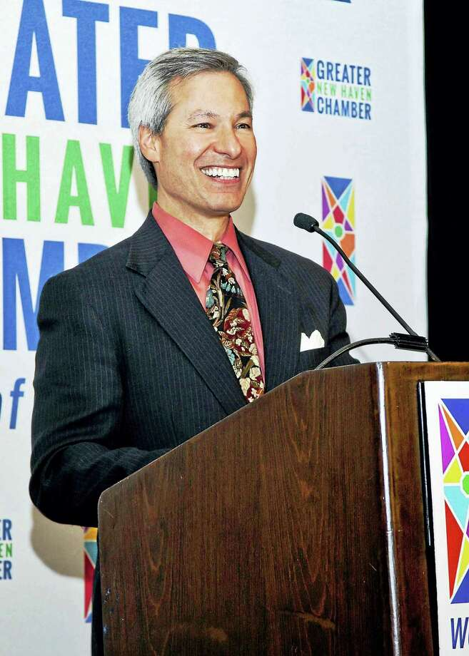 Greater New Haven Chamber of Commerce awarded its Community Leadership Award to Tom Sansone. He is an attorney with Carmody, Torrance, Sandak & Hennessey and lives in Bethany. Photo: Contributed