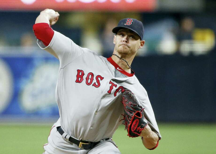 In this file photo, Boston Red Sox starting pitcher Clay Buchholz works against the San Diego Padres. The Red Sox have traded right-hander Clay Buchholz to the Philadelphia Phillies for minor league second baseman Josh Tobias, Tuesday. Photo: Lenny Ignelzi — The Associated Press File   / Copyright 2016 The Associated Press. All rights reserved.