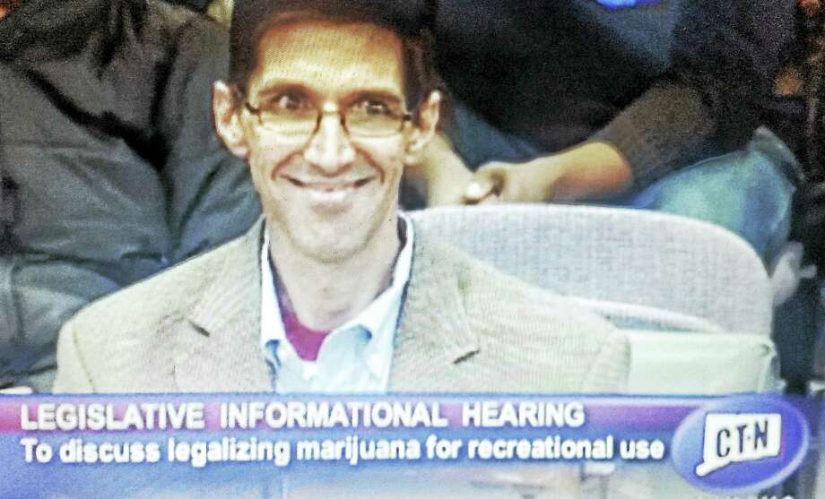 """Middletown resident Tracy Helin, who died in August from testicular cancer, <a href=""""http://www.ct-n.com/ctnplayer.asp?odID=12694  """">testified at an informational hearing of the Connecticut General Assembly </a>on the legalization of marijuana for adult recreational use in the state. Photo: Screenshot"""