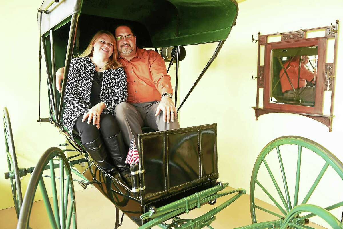 Judith Serrano and her husband Emil Serrano, Sr., owners of Key To The Past antique store on Frontage Road in East Haven.