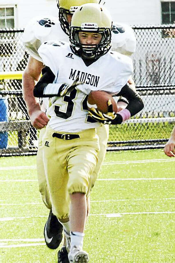 Willi Wilson of Madison runs a touchdown at a recent Sunday game. Photo: CONTRIBUTED PHOTO