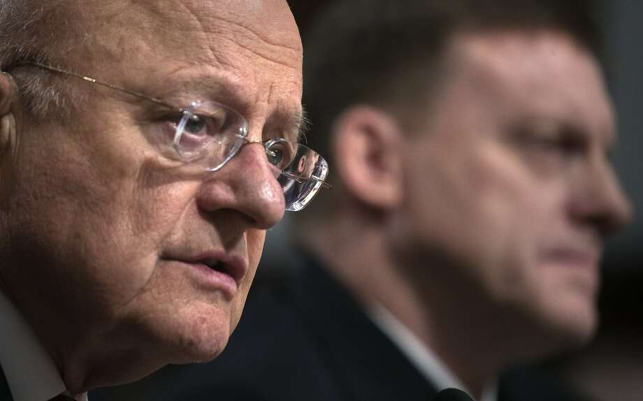 James Clapper, director of National Intelligence, testifies before the Senate Armed Services Committee on Capitol Hill, in Washington. Photo: STEPHEN CROWLEY, NYT