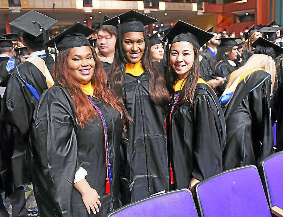 The University of New Haven winter commencement exercises this weekend in Wallingford. Photo: Photo By Arnold Gold — New Haven Register