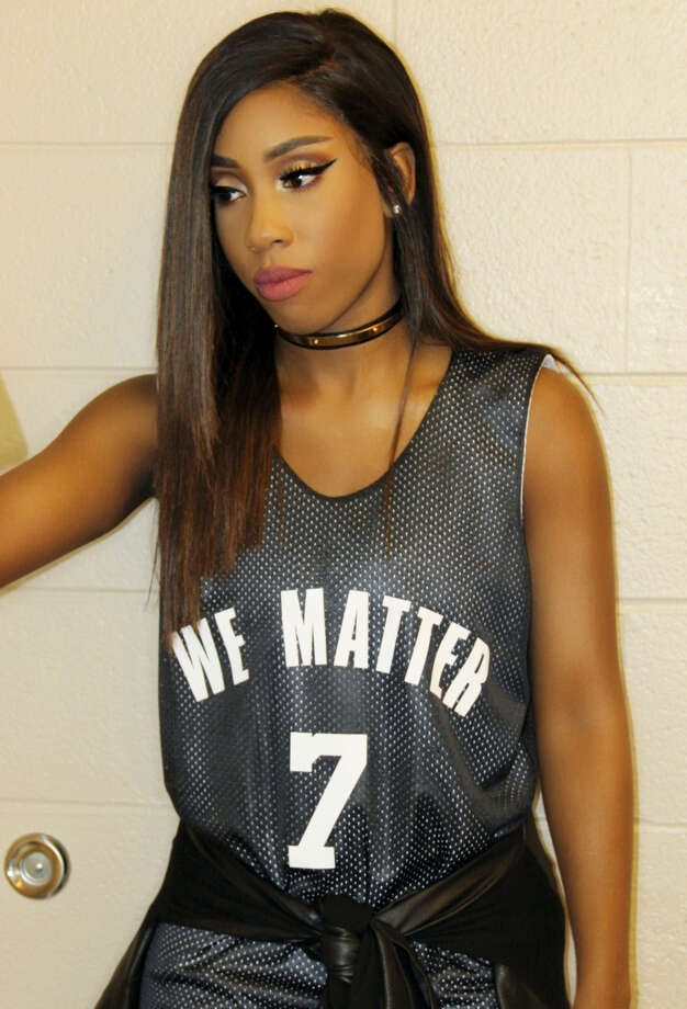 This photo provided by Atlantic Records shows Sevyn Streeter at an arena for a game between the Philadelphia 76ers and Oklahoma City Thunder in Philadelphia on Wednesday. Photo: Sevyn Streeter — Atlantic Records Via AP   / Sevyn Streeter