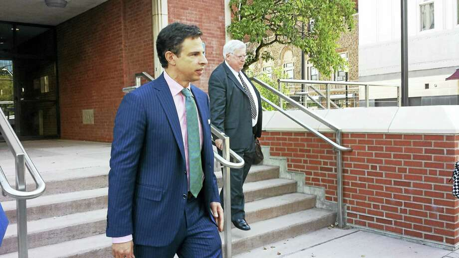 Attorney Josh Koskoff leaves Superior Court in Bridgeport Thursday. Photo: Anna Bisaro — New Haven Register