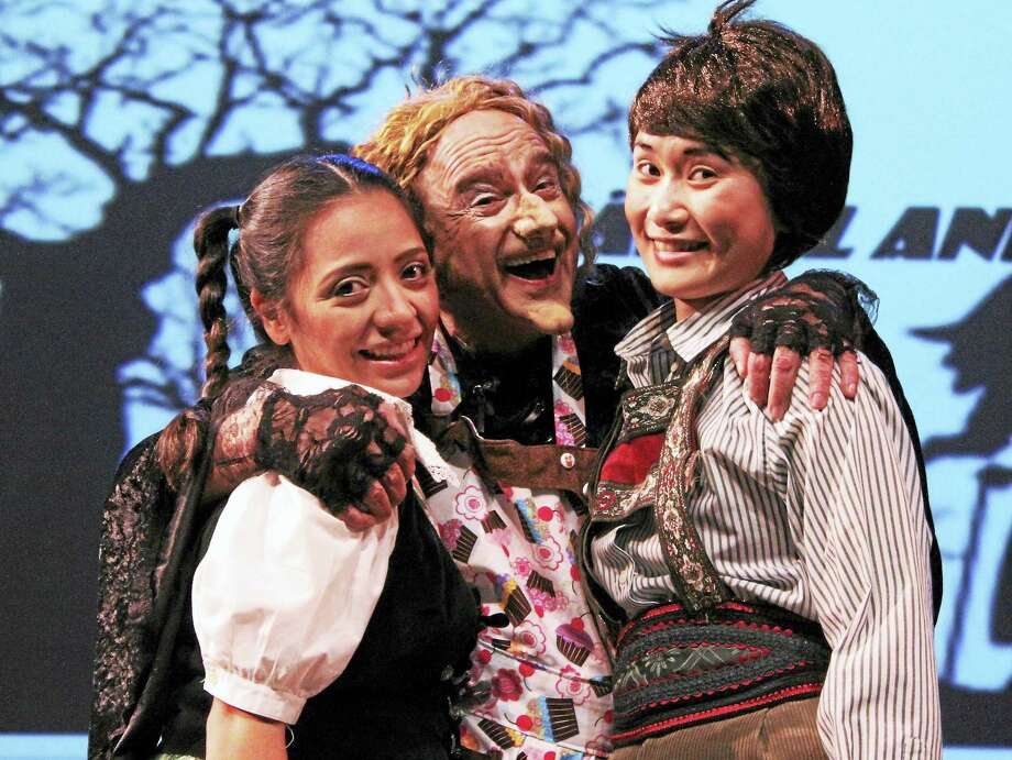 "Nadia Aguilar (Gretel), Anthony Laciura (The Witch) and Evanna Lai (Hansel) in ""Hansel and Gretel"" in West Hartford. Photo: Contributed"
