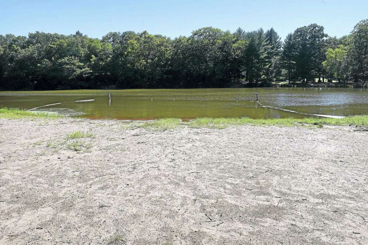 The beach at Wharton Brook State Park in Wallingford lacked any swimmers Aug. 22.